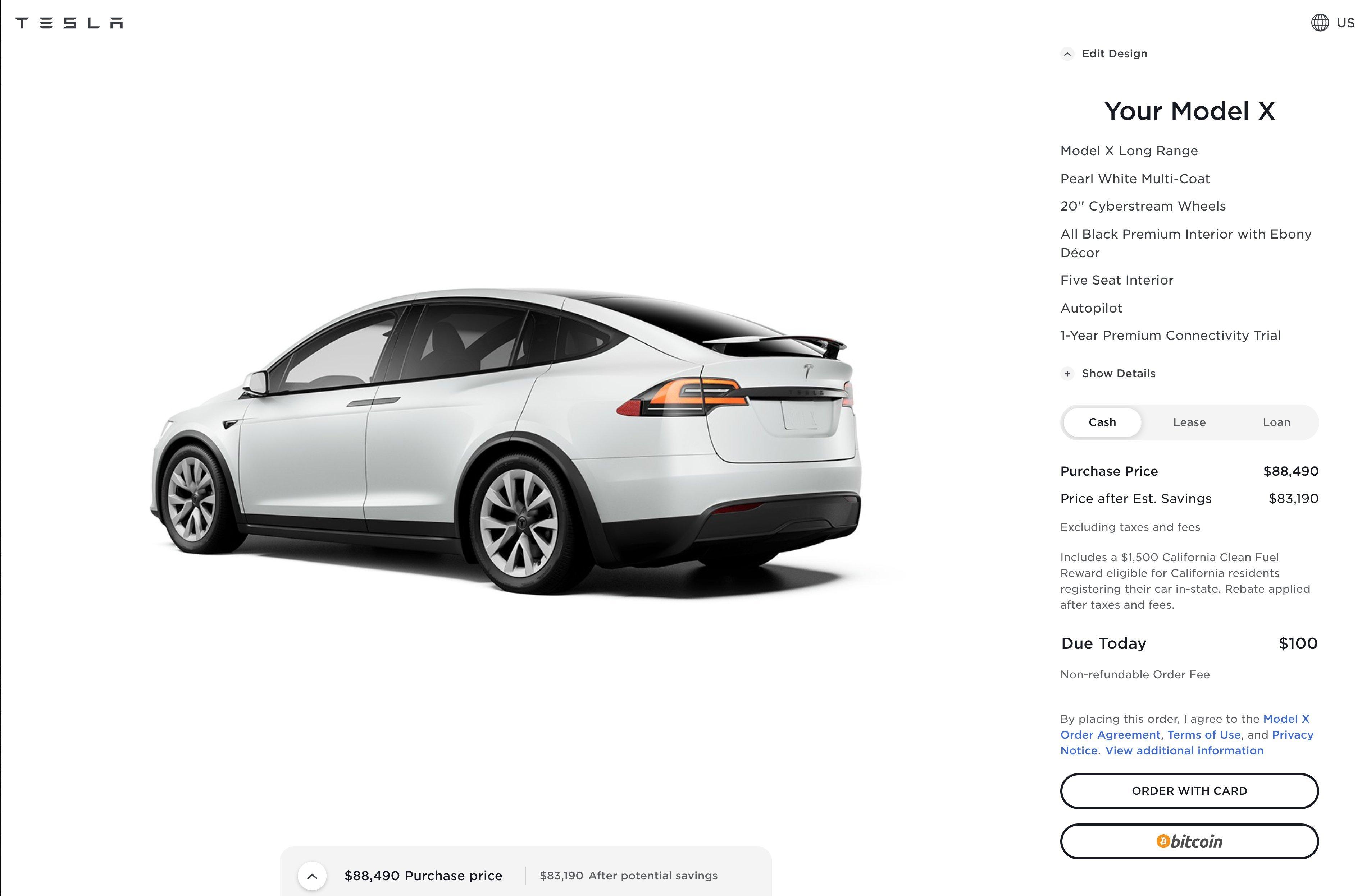Автомобили Tesla теперь можно приобрести за биткоин