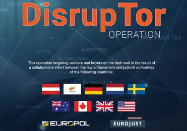 В ходе проведения масштабной операции совместно с EUROPOL и EUROJUST были задержаны 179 продавцов из даркнета торгующих наркотическими вещами