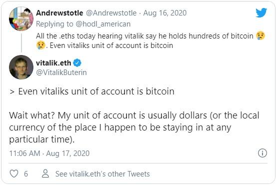 Бутерин отверг предположения сторонников биткоина, заявив, что вышел в фиат после продажи собственных запасов ETH.