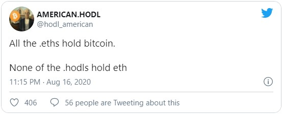 Сторонники первой криптовалюты предполагали, что Бутерин, как и все держатели Ethereum, имеют запасы биткоинов, этого нельзя сказать о BTC-максималистах, которые, как правило, все свои средства аккумулируют исключительно в первой криптовалюте.