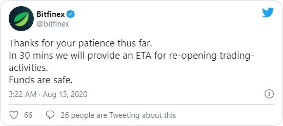 Руководство Bitfinex также обезопасило пользователей, сообщив, что пользовательским средствам ничего не угрожает.