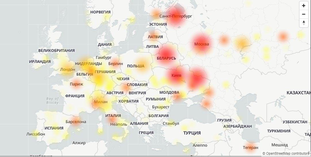 В ночь на 4 ноября пользователи обнаружили сбой в работоспособности мессенджера. Сервера Telegram недоступны по всей России, а также в большинстве стран Европы.