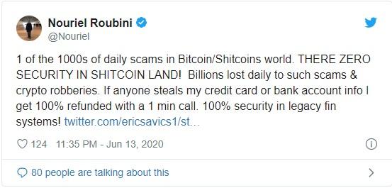 Цитата Нурижля Рубини касательно криптовалютных мошенников
