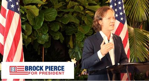 Брок Пирс являющийся председателем Bitcoin Foundation баллотируется в президенты США